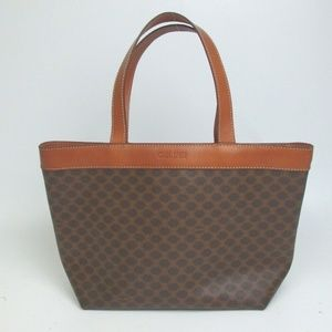 CELINE Macadam Monogram Hand bag PVC Leather Tote